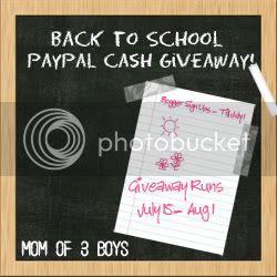 Back 2 School Cash Giveaway
