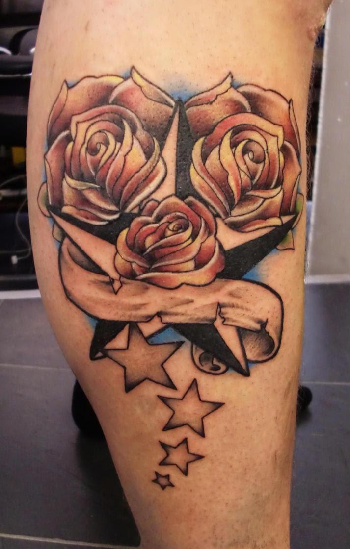 Beach Tattoo Ideas 20 Foxy Stars And Roses Tattoos