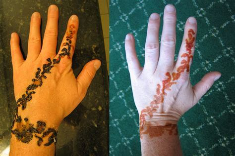 henna, before & after   The night before my friend's