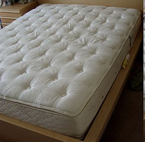A pillowtop mattress (U.S.