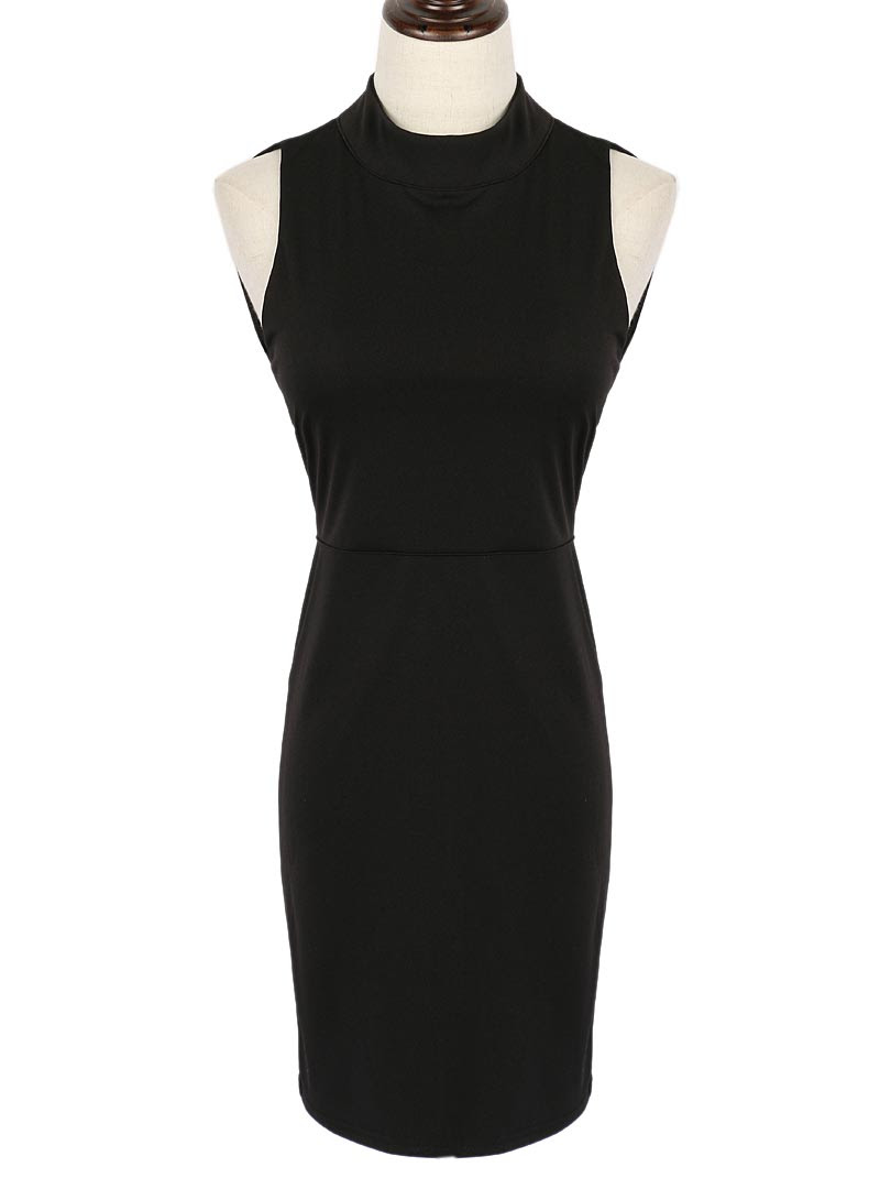 Side suits Bodycon Sleeveless Neck High Dresses Plain plus size indian