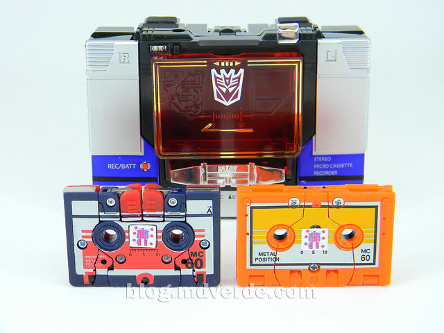 Transformers Soundblaster - G1 Encore - modo alterno vs Enemy vs Wingthing
