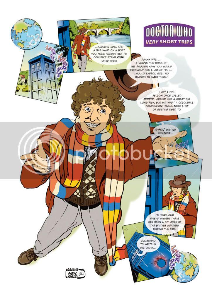 Doctor Who,Tom Baker,Graeme Neil Reid,illustration,Comic