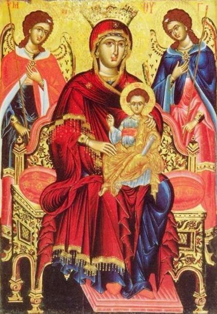 Η Παναγία Ένθρονος, 18ος αιώνας (Βυζαντινό Μουσείο Αθηνών)