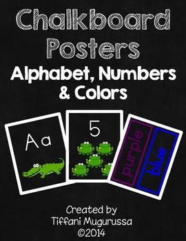 Time4kindergarten, chalkboard classroom posters