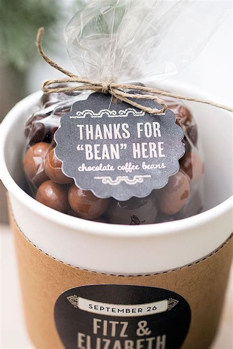 Wedding Favor Friday: Chocolate Covered Coffee Beans in