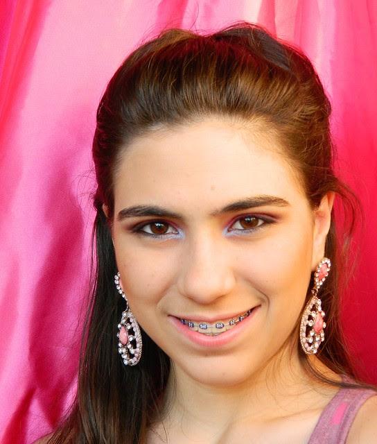 juliana leite penteado de princesa pink trança embutida espinha de peixe8