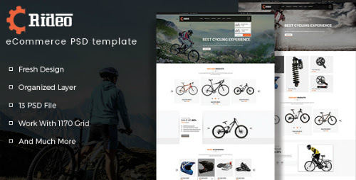 Rideo eCommerce PSD Template 16005269