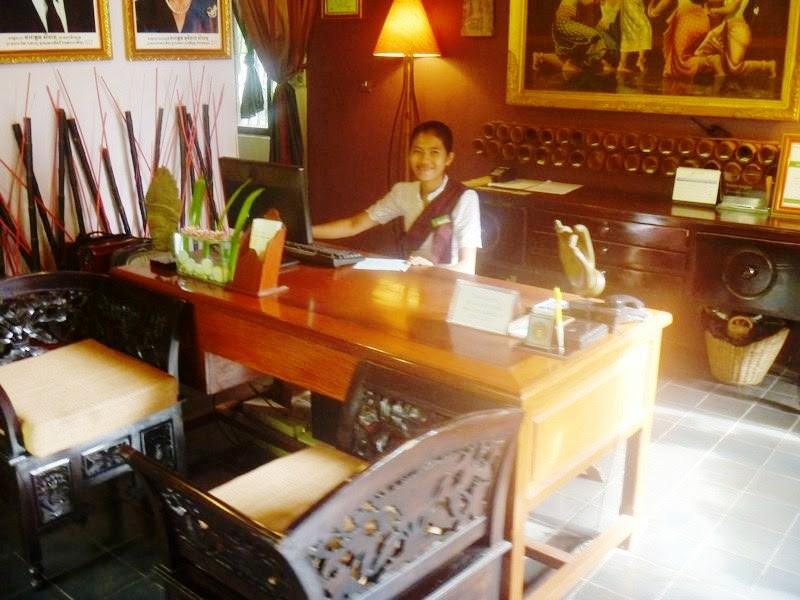 The reception desk
