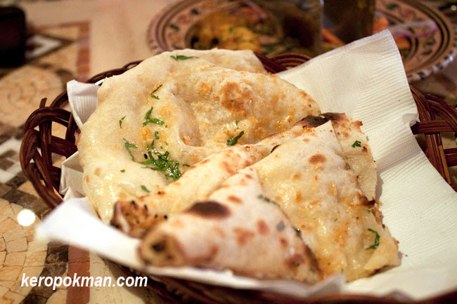 assortment of naans
