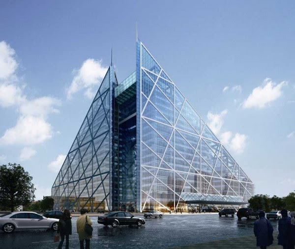 parkview green s151209 600x507 14 Futuristic Building Designs in China
