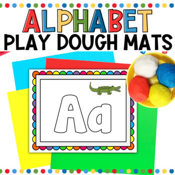 alphabet play-doh mats