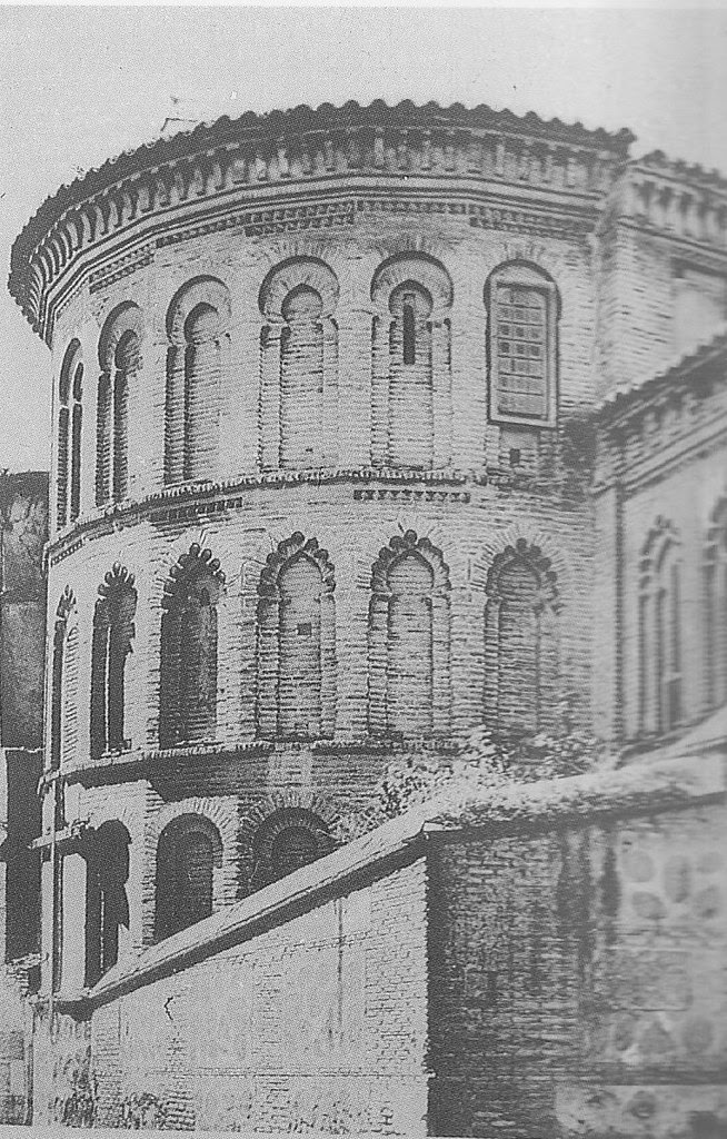 Ábside de la Iglesia de San Bartolomé a principios del siglo XX