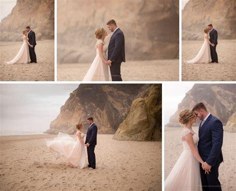 oregon beach wedding, hug point, shannon hager photography