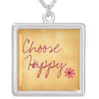 Choose Happy Affirmation Pendants