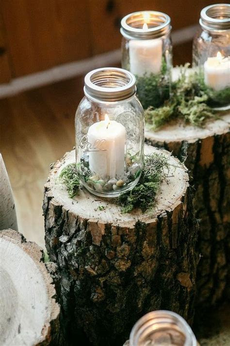 candles in mason jar wedding decor ideas   Deer Pearl Flowers