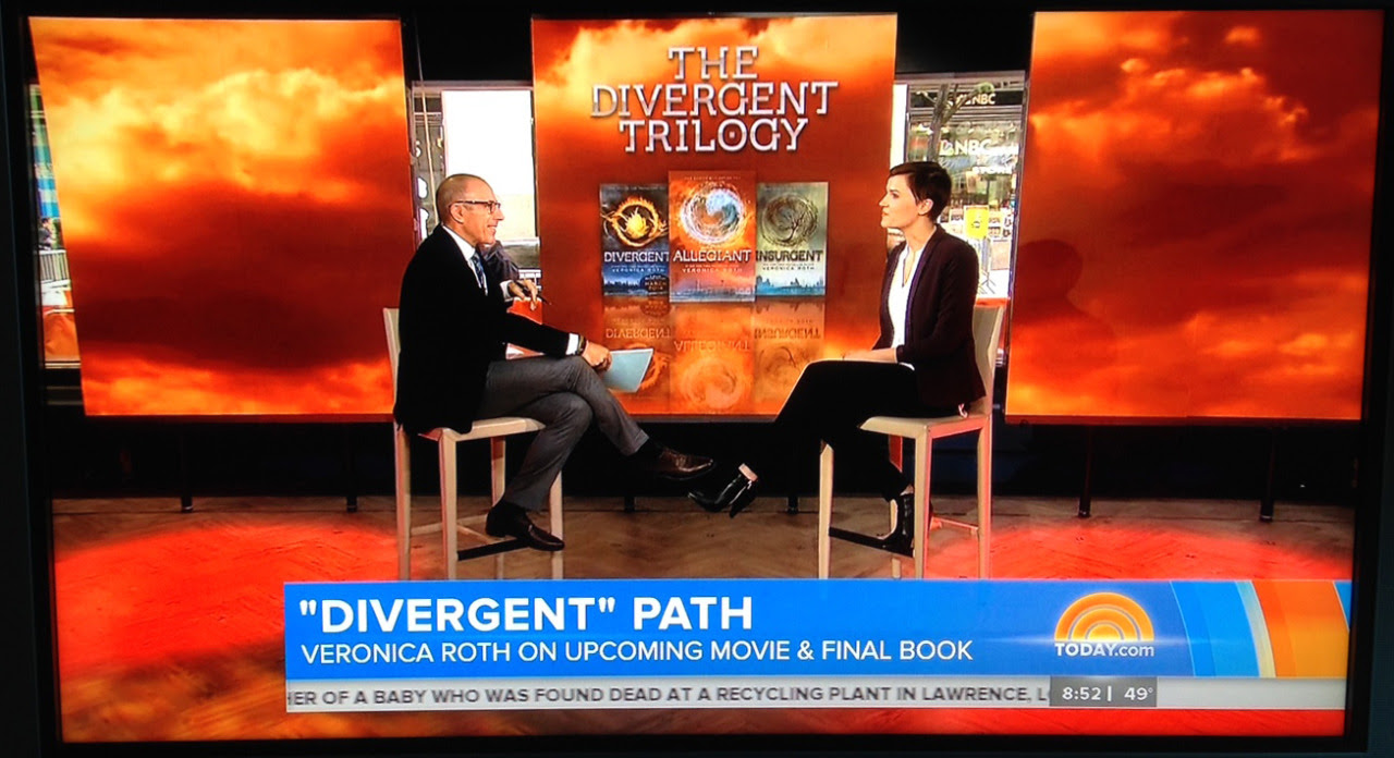 Matt Lauer interviewed Veronica Roth on the Today Show this morning! Watch the full interview here.