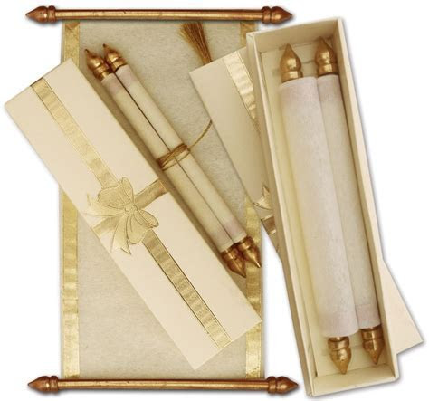 UNIQUE SCROLL CARDS is scroll wedding cards, wedding