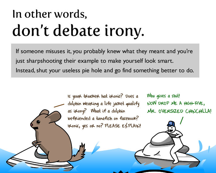 oatmeal writes about irony but you should not debate it