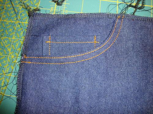 J Stern Design jeans in progress