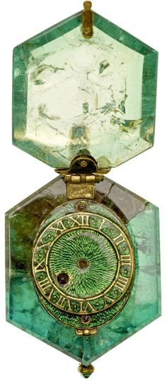 "Emerald Watch, circa 1600 - from Museum of London exhibition ""The Cheapside Hoard: London's Lost Jewels"" (via Forbes)"