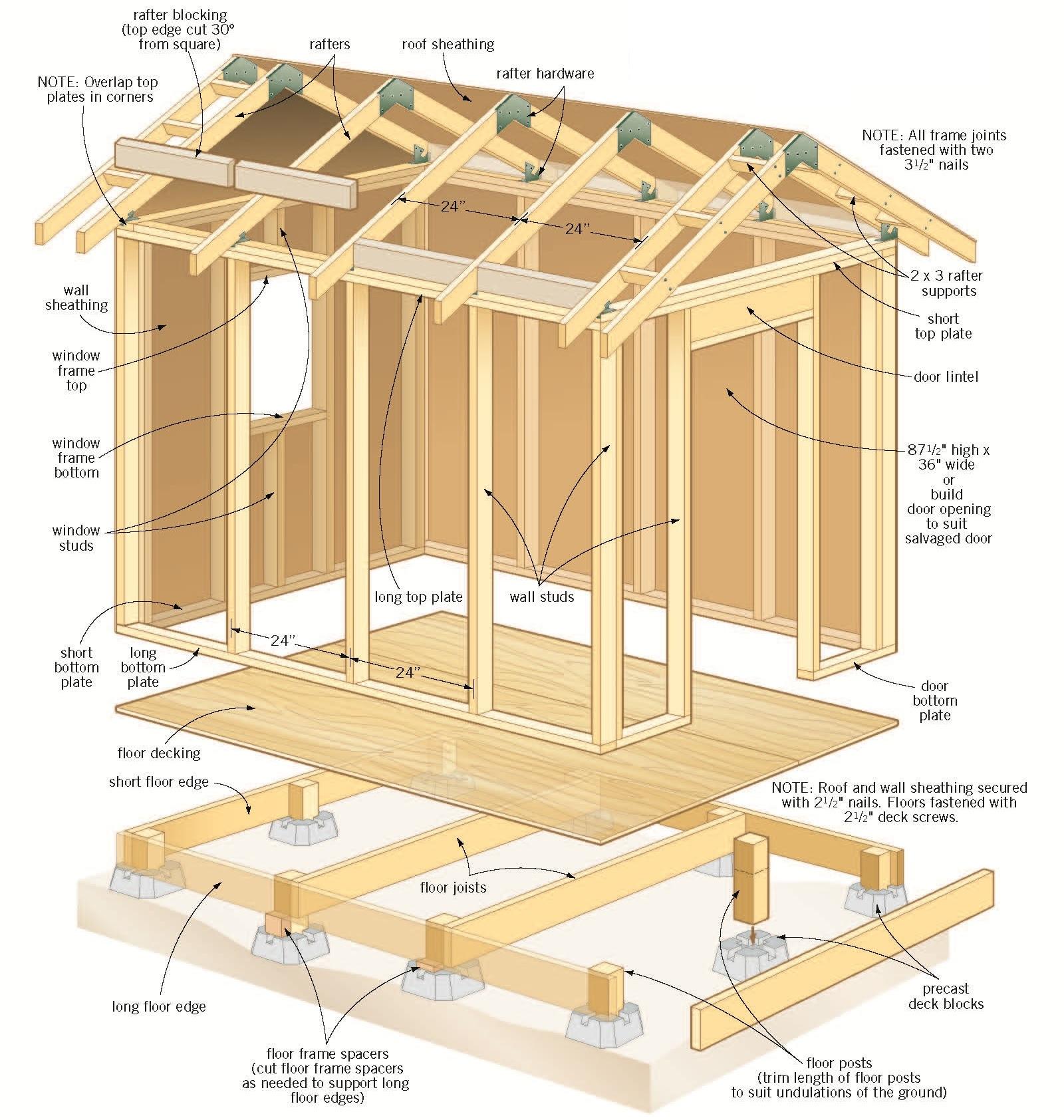 free backyard garden shed plans 4 isometric