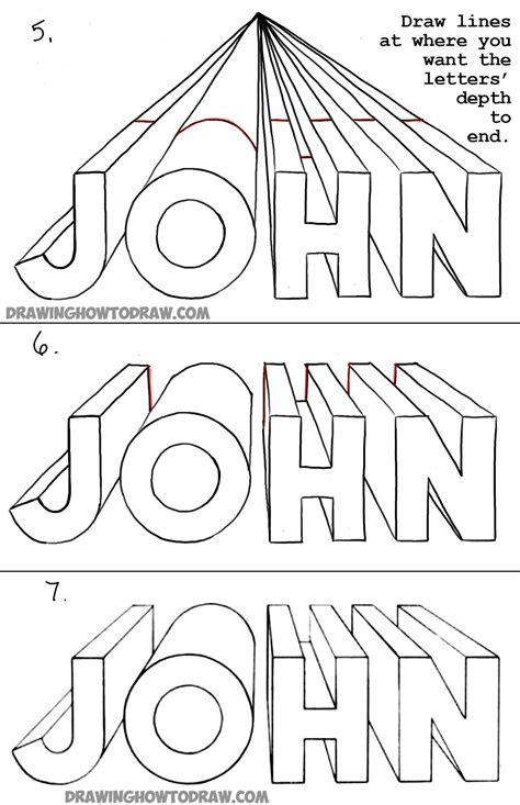 draw  letters   point perspective
