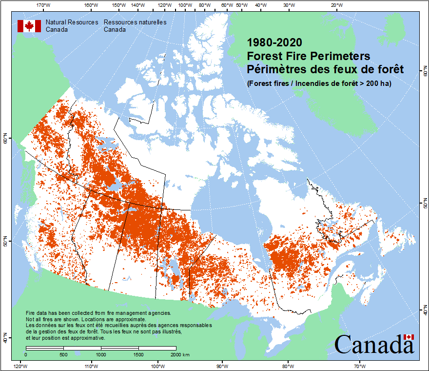 Wildfire Map Canada | Time Zone Map