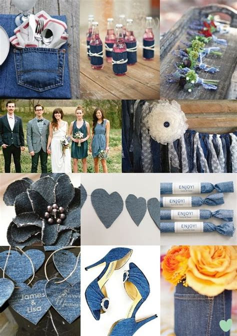 denim wedding ideas  pinterest country