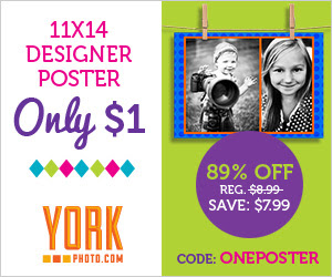 11X14 Designer Poster – Only $1 – Save $7.99!