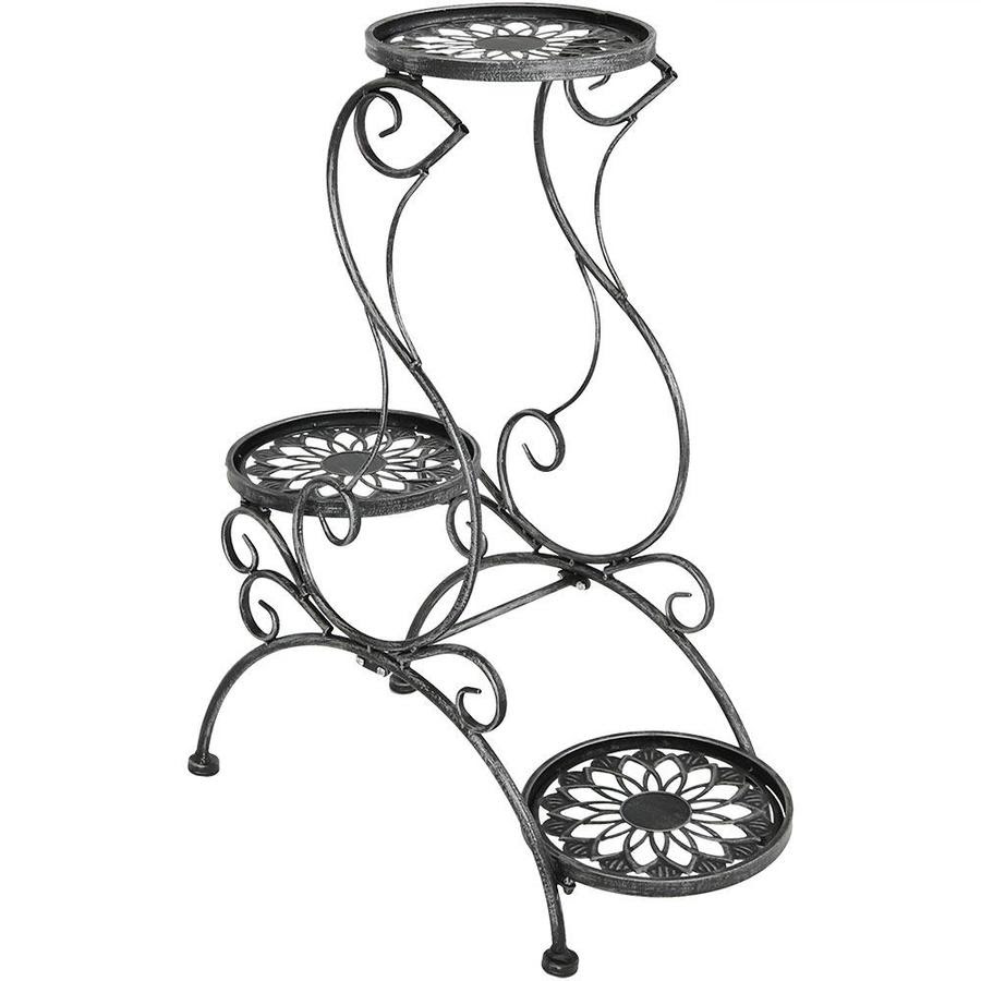 Sunnydaze Decor 3 Tier Victorian Metal Plant Stand Indoor Outdoor Flower Pot Holder 31 In Tall Black In The Plant Stands Department At Lowes Com