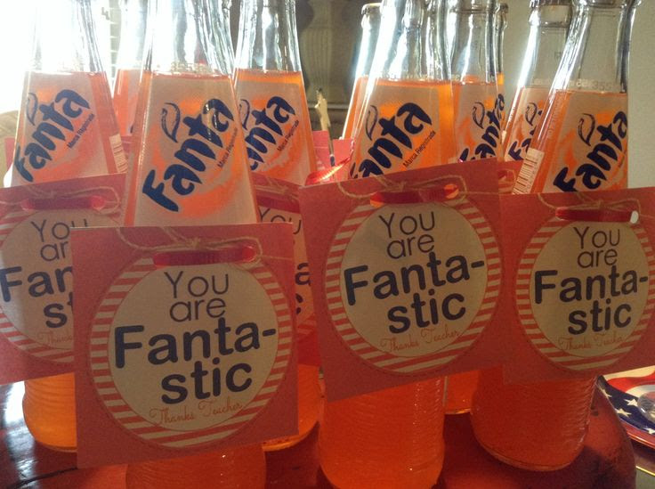 fanta teacher gift, soda teacher gift, FANTASTIC teacher, inexpensive teacher gift, coach gift, babysitter gift, nanny gift