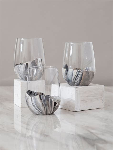 You HAVE To See How Easy These Marble Wine Glasses Are To