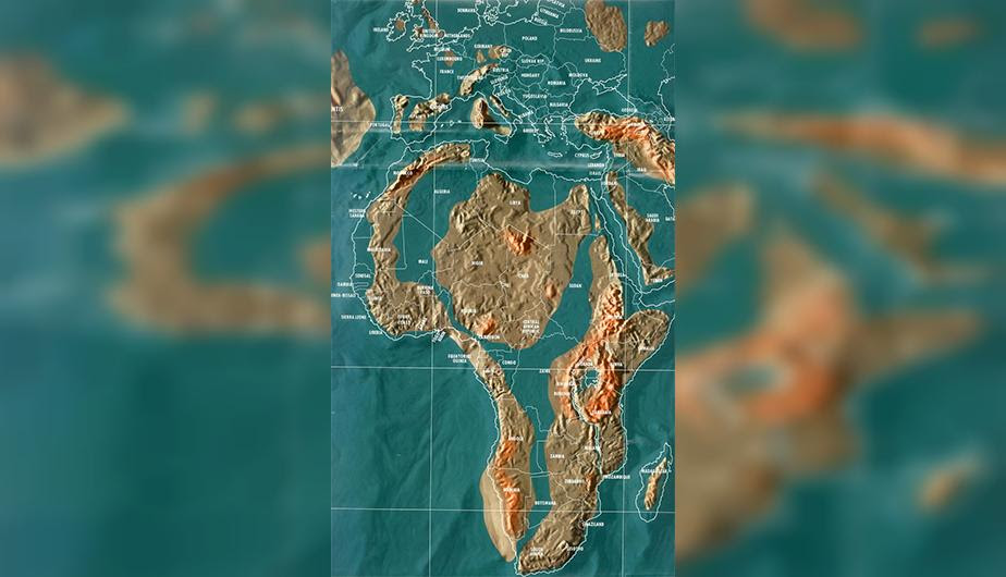 Futuro mapa post-apocalíptico de África.