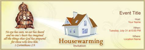 Free House Warming invitation with India?s #1 online tool