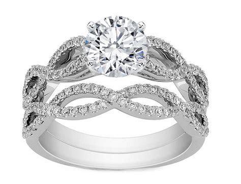 Engagement Ring  Infinity Bridal Set: Engagement Ring