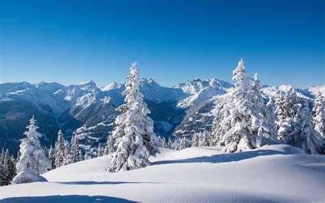 scarica sfondi paesaggio  montagna invernali neve