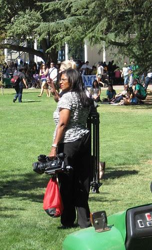 TV reporter packs up