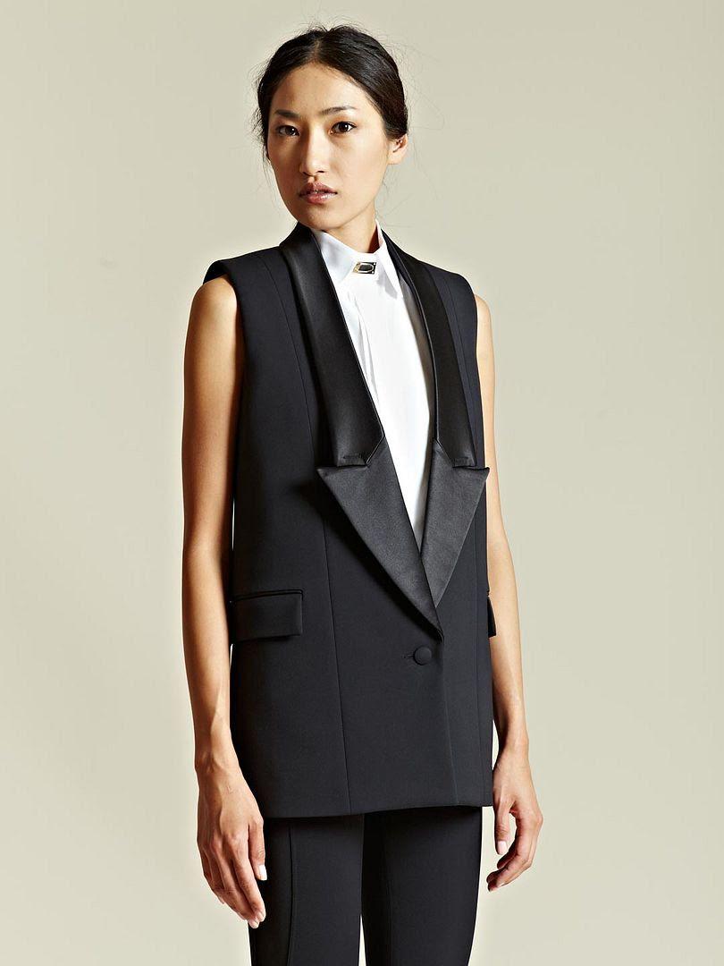 Givenchy Women's Sleeveless Tuxedo Jacket