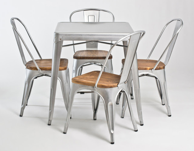 Retro Industrial Look Galvanized Steel Dining Collection ...