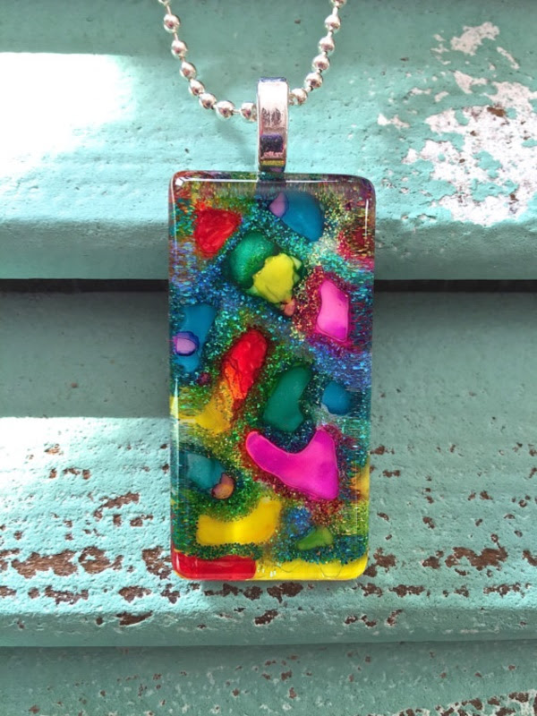Original Alcohol Ink On Glass Examples16