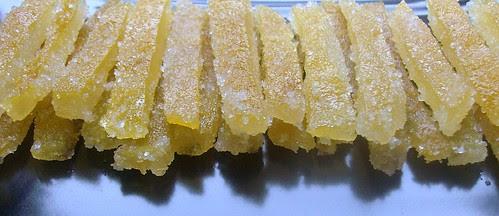 Scorze di bergamotto candite