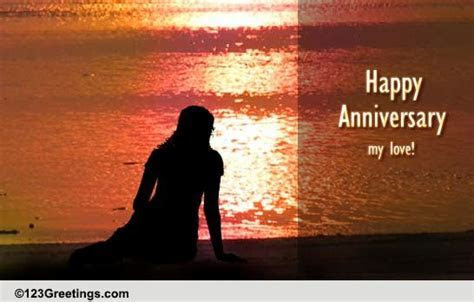 Happy Anniversary My Love  Miss You! Free For Him eCards
