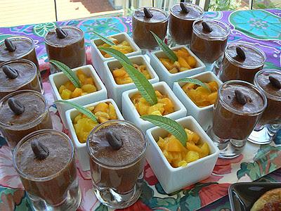 mousses au chocolat et pêche mangue ginger.jpg