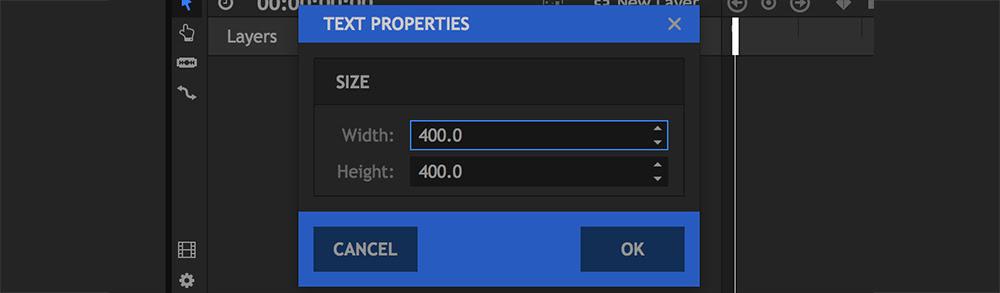 HitFilm 4 Pro: Text Editing Box
