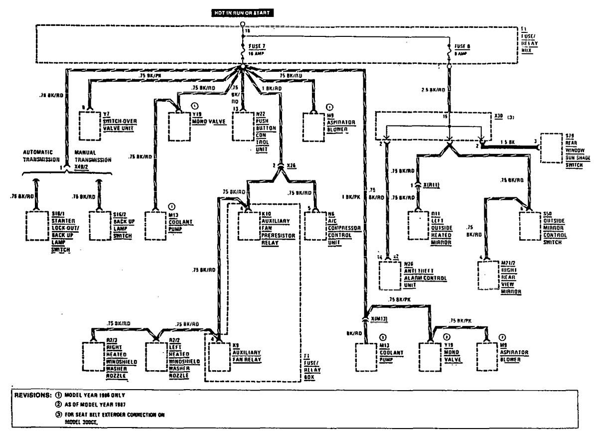 Mercedes-Benz 300CE (1990 - 1991) - wiring diagrams - fuse ...