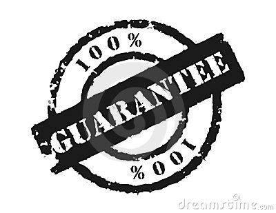 Stamp 100% Guarantee Royalty Free Stock Photo   Image: 7576445