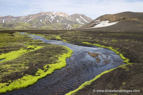 01M-0377 Stream on the edge of the Myrdalssandur Desert Iceland