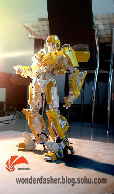 114f31089b9 Garoto Chinês constrói Transformer usando sucata   Curiosidades