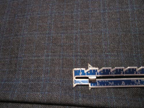 Grey blue wool plaid